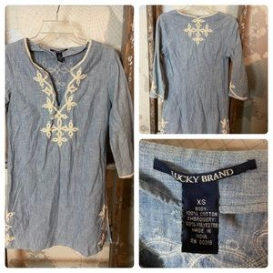 Lucky Brand embroidered dress XS GUC